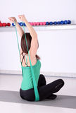 Girl fitness exercise healthy lifestyles Royalty Free Stock Images