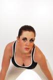 Girl in fitness training Stock Photos