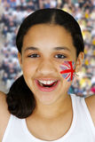Girl With Flag Royalty Free Stock Image