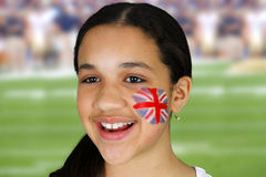 Girl With Flag Royalty Free Stock Photos
