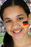 Girl With Flag Stock Images