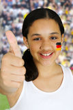 Girl With Flag Royalty Free Stock Photo