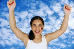 Girl With Flag Royalty Free Stock Images