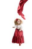 Girl in flamenco skirt jumping Stock Image