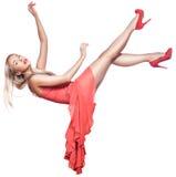 Girl flies falling. Royalty Free Stock Photography