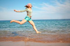 Girl in flight Royalty Free Stock Image