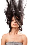Girl flipping hair Royalty Free Stock Photo