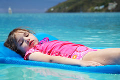 Girl on float Royalty Free Stock Photography