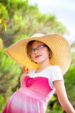 Girl In Floppy Hat Royalty Free Stock Photography