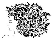 Girl Floral Hairstyle Stock Photography