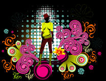 Girl floral vector Stock Images