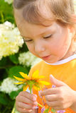 Girl with floret Stock Photography