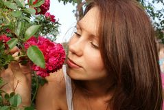 A girl is a flower Stock Image