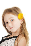 The girl and a flower Royalty Free Stock Photo