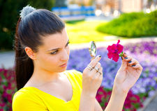 Girl with flower Royalty Free Stock Images