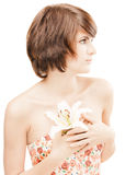 Girl with a flower Royalty Free Stock Photos