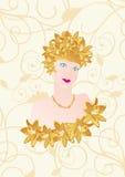 Girl-flower Royalty Free Stock Image