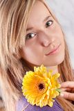 Girl with flower Royalty Free Stock Image