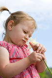 Girl with flower. Royalty Free Stock Images