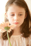 Girl with a flower Royalty Free Stock Image