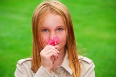 Girl flower Stock Photo