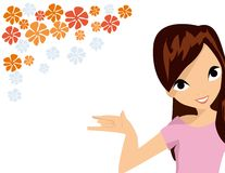Girl with flower royalty free illustration