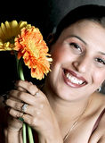 Girl with flower Stock Photos
