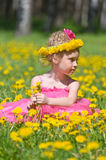 Girl with flower crown Stock Image