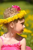 Girl with flower crown Royalty Free Stock Image