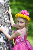 Girl with flower crown Royalty Free Stock Photography