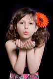 Girl with flower in the hair Stock Photography
