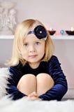 Girl with flower headband Royalty Free Stock Photo