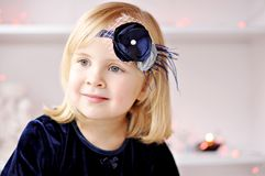 Girl with flower headband Stock Photography