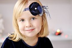 Girl with flower headband Royalty Free Stock Photos