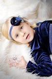 Girl with flower headband Stock Photo