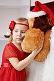 Girl with flower headband Stock Photography