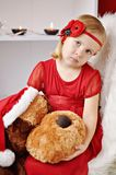 Girl with flower headband Royalty Free Stock Photography