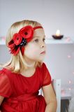 Girl with flower headband Stock Photos