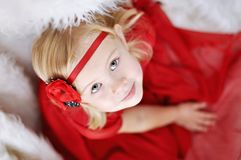 Girl with flower headband Stock Images