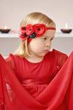 Girl with flower headband Royalty Free Stock Image