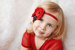 Girl with flower headband Royalty Free Stock Photo