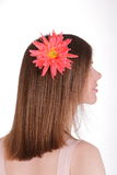 Girl with flower in her hair Royalty Free Stock Images