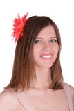 Girl with flower in her hair Royalty Free Stock Photos