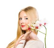 Girl with flower Stock Photography