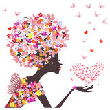 Girl flower vector Stock Photos