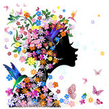 Girl flower vector Royalty Free Stock Photos