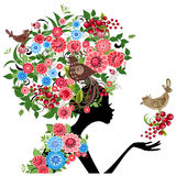 Girl flower vector Stock Photography