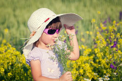 Girl in Flowers Royalty Free Stock Images
