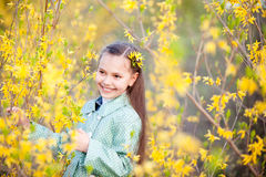Girl in flowers Royalty Free Stock Photography