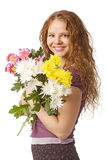Girl with flowers Royalty Free Stock Images
